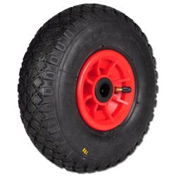 Lufträder - Tragkraft 50-250 kg - Profil Rille, Stolle, Military mit Kunststofff