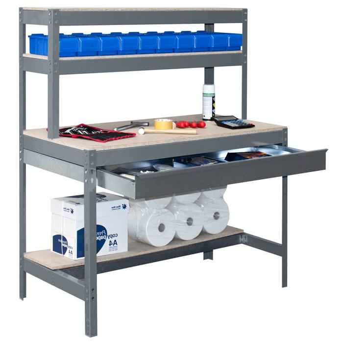 werkbank bt 1 box mit schublade arbeitsplatte mdf tragkraft 600 kg. Black Bedroom Furniture Sets. Home Design Ideas
