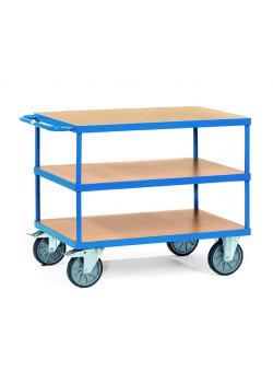 tischwagen bis 600 kg mit 3 b den aus holz. Black Bedroom Furniture Sets. Home Design Ideas