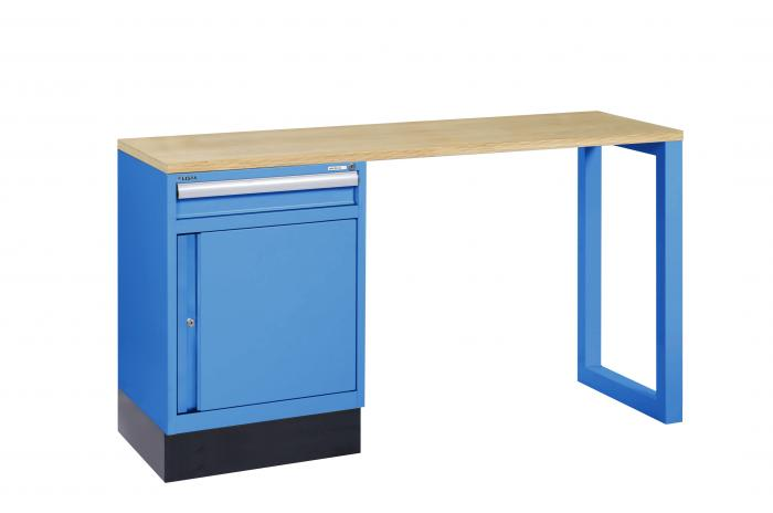 werkbank 1 schrank mit 1 schublade 35kg lxtxh 1600 x 600 x 900 mm lista s. Black Bedroom Furniture Sets. Home Design Ideas