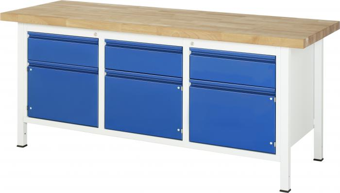 werkbank bis 1000 kg buche massiv 40 mm 3 schubladen 3 t ren. Black Bedroom Furniture Sets. Home Design Ideas