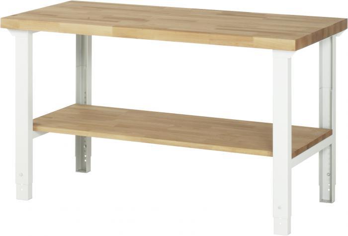 werkbank bis 750 kg buche massiv 40mm mit ablageboden arbeitsh he einstellb. Black Bedroom Furniture Sets. Home Design Ideas