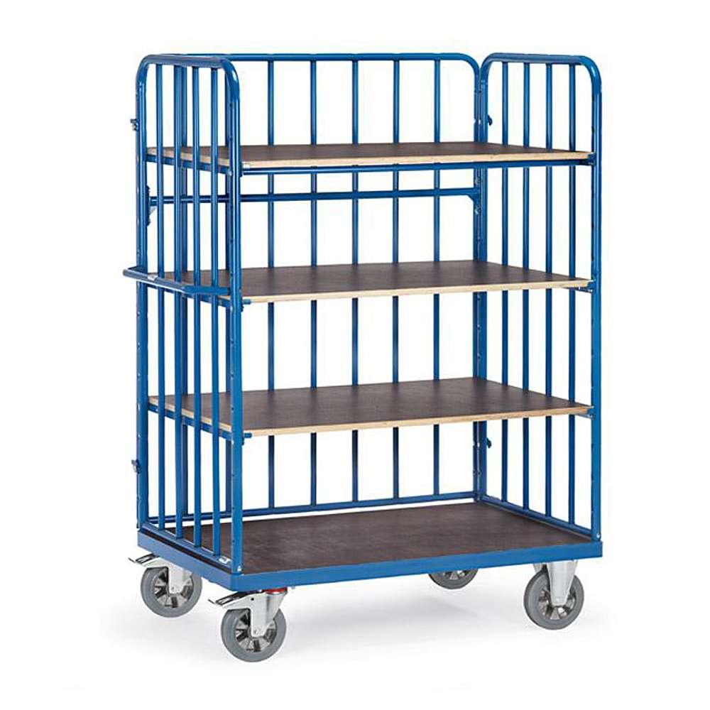 etagenwagen 1200 kg mit 4 b den aus holz mit streben. Black Bedroom Furniture Sets. Home Design Ideas