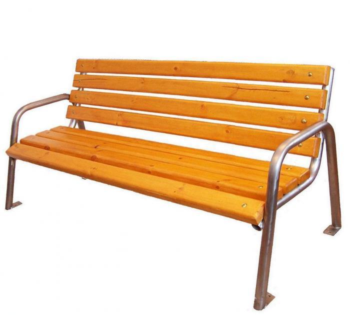 sitzbank b145 aus edelstahl mit holzbelattung. Black Bedroom Furniture Sets. Home Design Ideas