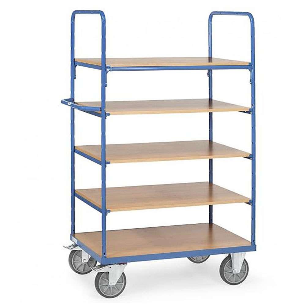 etagenwagen mit 5 b den aus holz h he 1800 mm. Black Bedroom Furniture Sets. Home Design Ideas