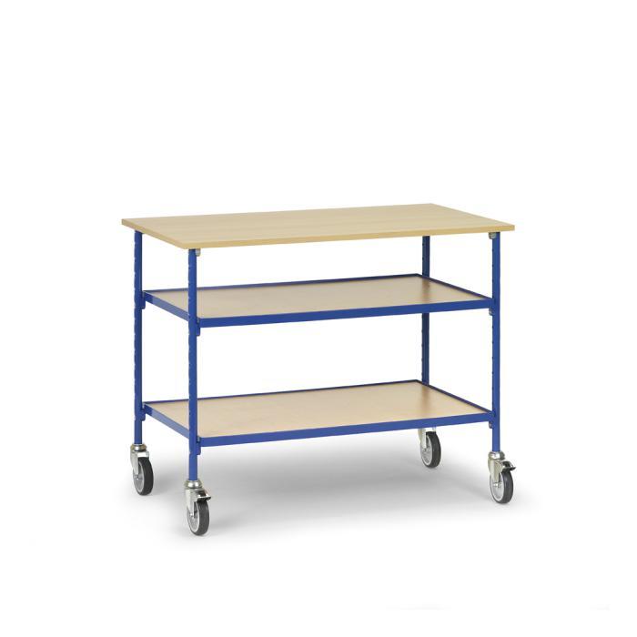 rolltisch mit 3 b den aus holz 150 kg. Black Bedroom Furniture Sets. Home Design Ideas