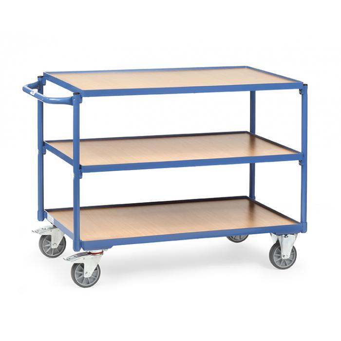 tischwagen mit 3 b den aus holz griff waagerecht 300 kg. Black Bedroom Furniture Sets. Home Design Ideas