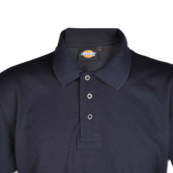 poloshirt kurze rmel dickies marineblau 65 35 polyester baumwolle. Black Bedroom Furniture Sets. Home Design Ideas
