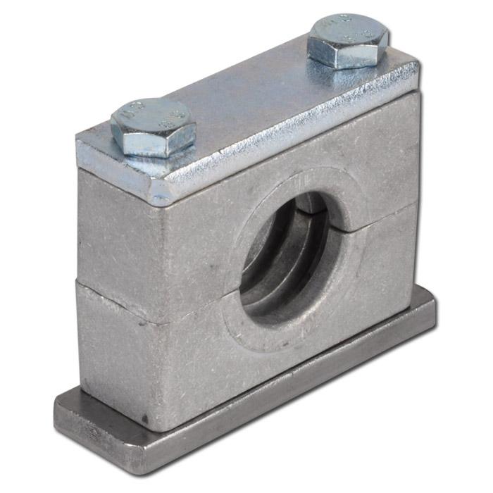Rohrschelle Aluminium Schwere Baureihe Mit Anschweiss Deckplatte