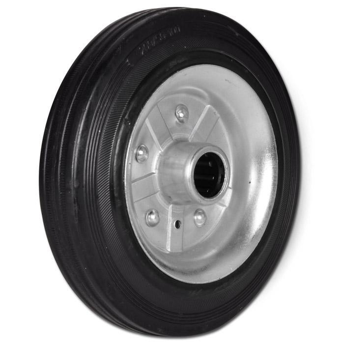 80 4er Set Vollgummi-Rad verzinkte Stahlfelge schwarz verschiedene Gr/ö/ßen